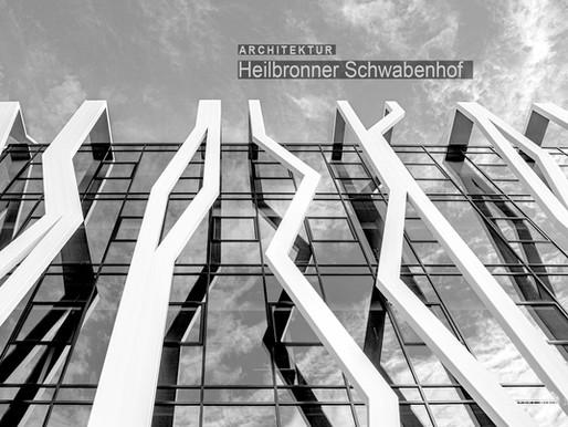 Architekturfotografie: Markante Glaswürfel mit Stahlnetzen im Heilbronner Schwabenhof