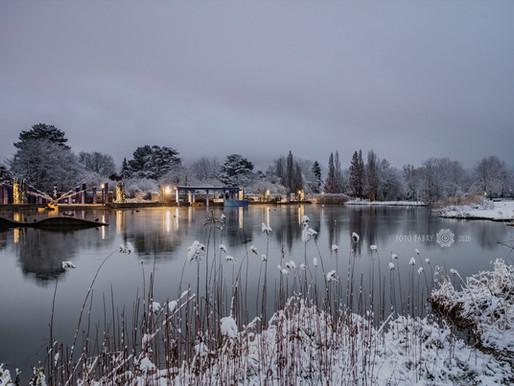 Ettlingen,  erster Schnee