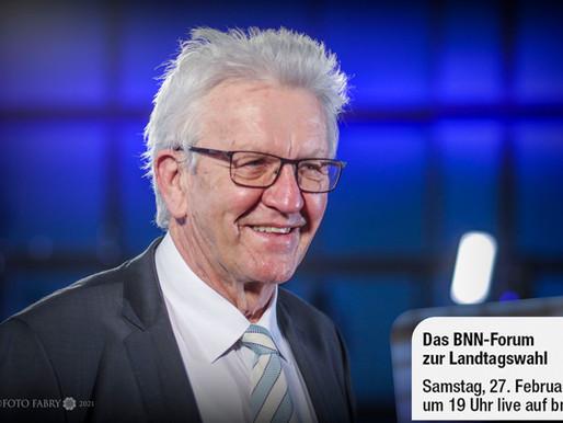 BNN Wahlforum zur Landtagswahl mit den Spitzenkandidaten