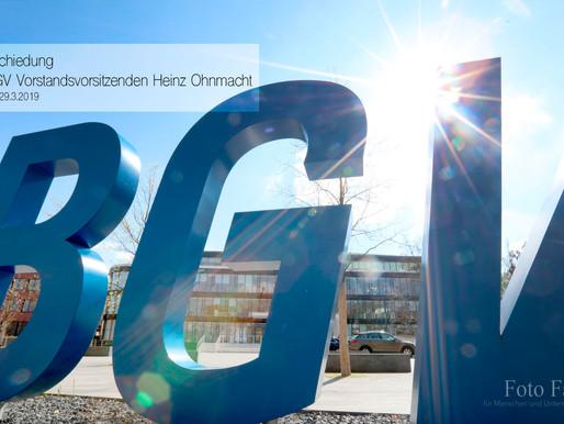 Verabschiedung  des BGV Vorstandsvorsitzenden Heinz Ohnmacht
