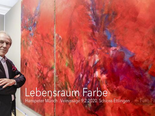 "Heute Vernissage:  ""Hanspeter Münch – Lebensraum Farbe"""