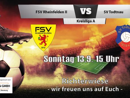 Spielankündigung 13.9. | Kreisliga A | Heimspiel