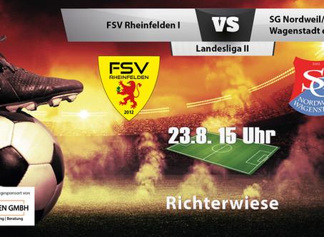 Spielankündigung 23.08.2020   Landesliga   Heimspiel