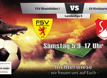 Spielankündigung 5.9.   Landesliga   Heimspiel