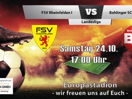 Spielankündigung 24.10. | Landesliga | Heimspiel