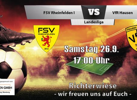 Spielankündigung 26.9.   Landesliga   Heimspiel