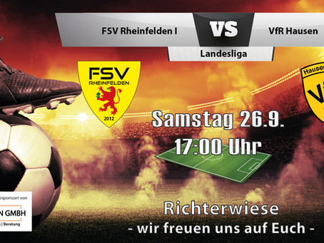 Spielankündigung 26.9. | Landesliga | Heimspiel
