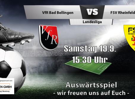 Spielankündigung 19.9.   Landesliga   Auswärts