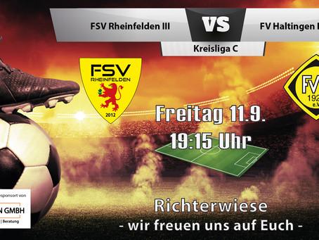 Spielankündigung 11.9. | Kreisliga C | Heimspiel