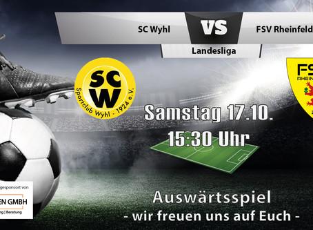 Spielankündigung 17.10.   Landesliga   Auswärts