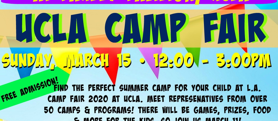 CANCELLED! biggest camp fair of the year: ucla camp expo