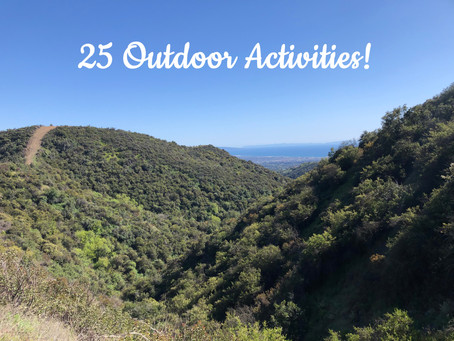 25 outdoor activities for you right now!