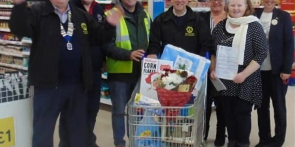 Lions Trolley Dash at Tesco Filey
