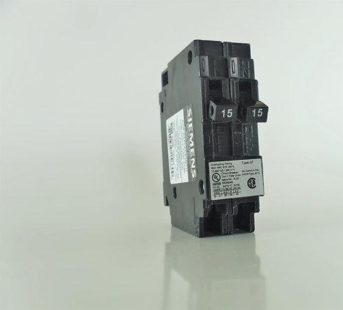 Siemens Q1515NC Two 15-Amp 1 Pole 120/240V Circuit Breaker