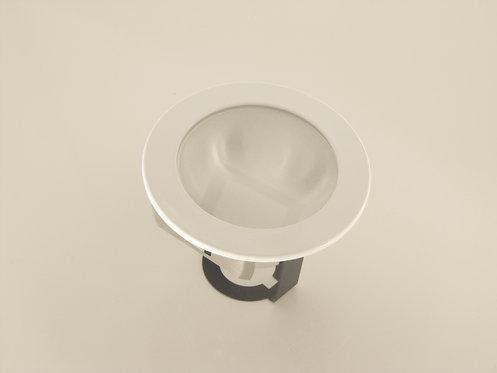 """4"""" White Shower Trim with Bracket - PAR20"""