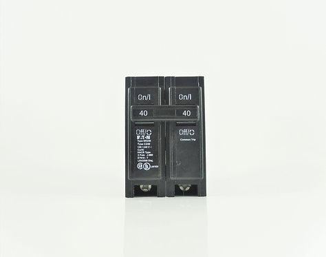 Cutler Hammer BR240 40A 2 Pole 120/240V Circuit Breaker