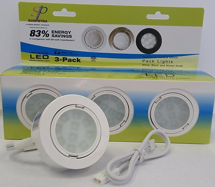 RECESS/SURFACE MOUNT PUCK LIGHTS 3 In 1 Pack