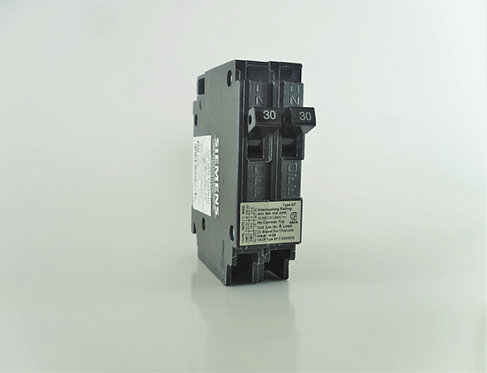Siemens Q3030NC Two 30-Amp 1 Pole 120/240V Circuit Breaker