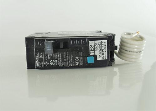 Siemens Q115AFC 15-Amp 1 Pole 120V Combination Type Arc Fault Circuit Breaker