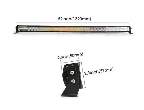 Truck LED Light Bar - Orange - 52 inch - 270W