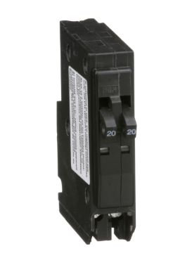 Square D QO2020 20A Twin Pole 120/240V Spacesaver Breaker