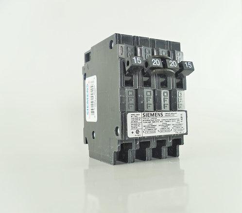 Siemens Q21520CTNC 15/20/15Amp 120/240V Quad Breaker