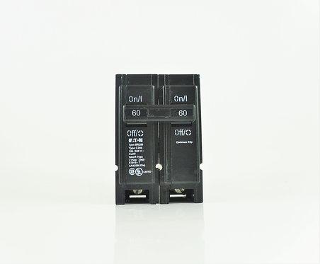 Cutler Hammer BR260 60A 2 Pole 120/240V Circuit Breaker