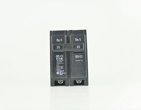 Cutler Hammer BR220 20A 2 Pole 120/240V Circuit Breaker