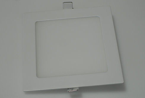 "LED Slim Panel - 6"" - 3000K - White (Square)"