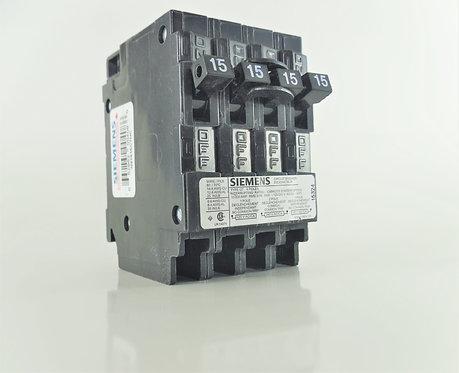 Siemens Q21515CTNC 15/15/15Amp 120/240V Quad Breaker
