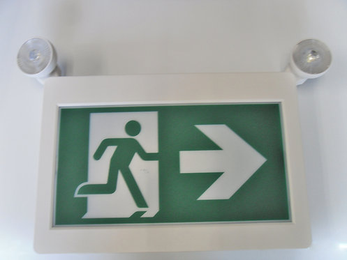 Thermoplastic Running Man Sign/Emergency Combo
