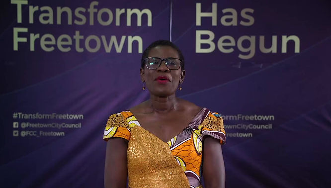 Mayor of Freetown Yvonne Aki Sawyerr talks about the T-SUM Project