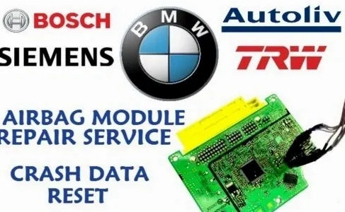 BMW E/F/G SERIES AIRBAG ECU SRS MODULE CRASH DATA RESET REPAIR SERVICE