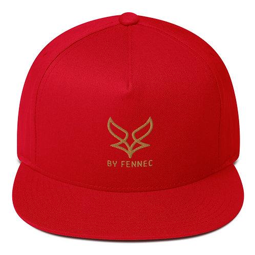 Casquette visière plate Snapback Rouge Homme BY FENNEC