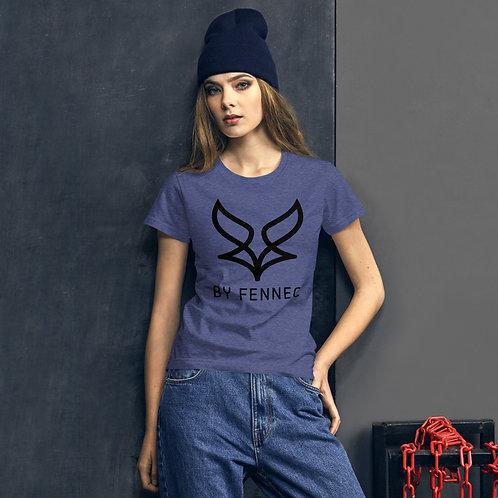 T-shirt manches-courtes ajusté Bleu Chiné Femme BY FENNEC