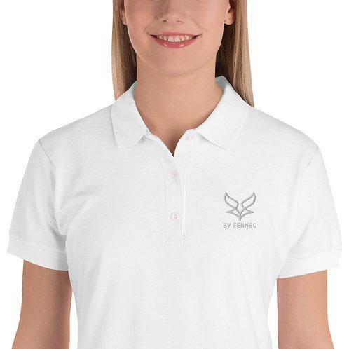 Polo brodé Blanc Femme BY FENNEC