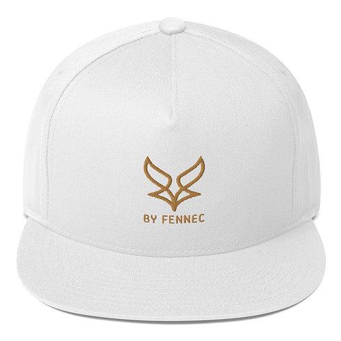 Casquette visière plate Snapback Blanc Homme BY FENNEC