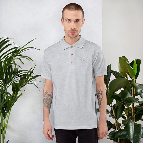 Polo brodé Gris Homme BY FENNEC