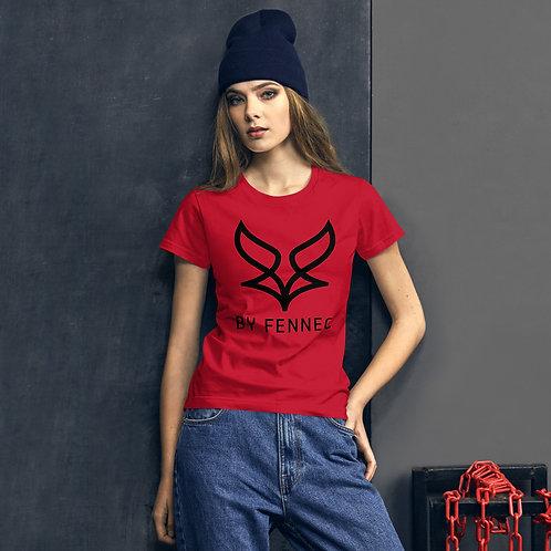 T-shirt manches-courtes ajusté Rouge Femme BY FENNEC