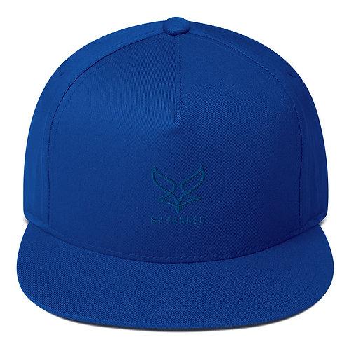 Casquette visière plate Snapback Bleue Homme BY FENNEC