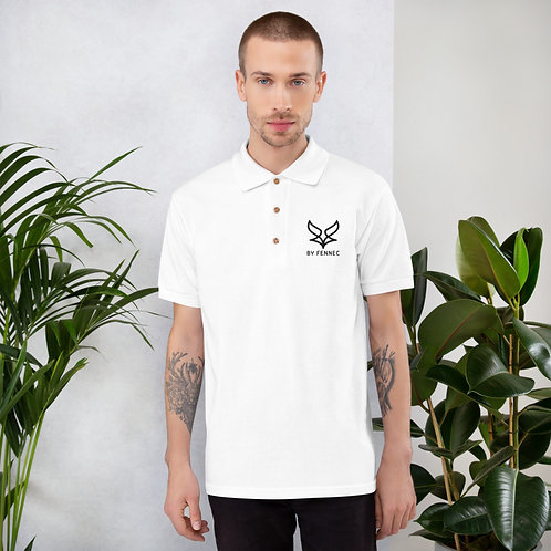 Polo brodé Blanc Homme BY FENNEC