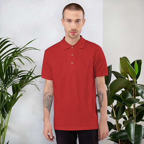 Polo brodé Rouge Homme BY FENNEC