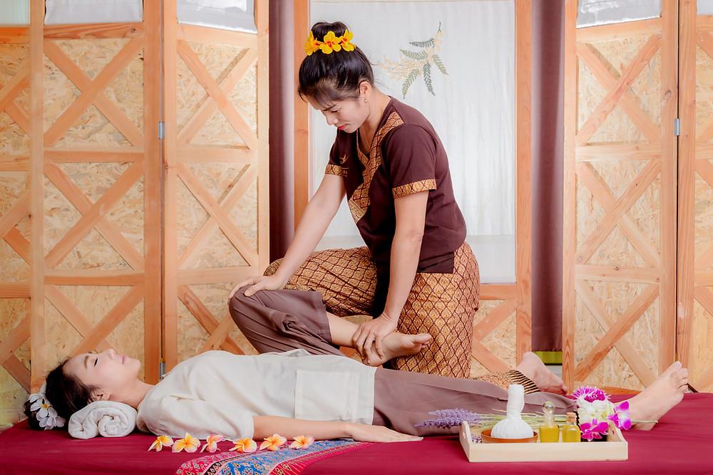 massage thai traditionnel appuyé