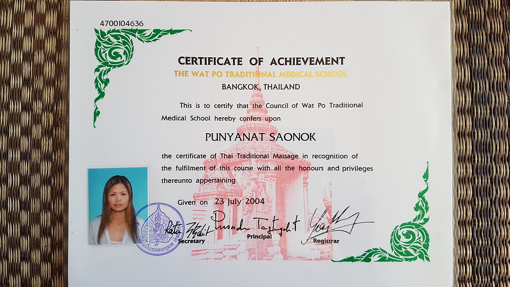 Diplome Wat Po