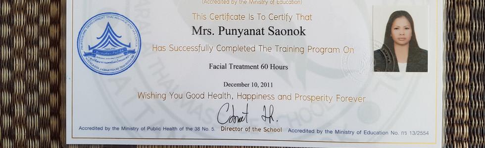 diploma Taralai facial treatment.jpg