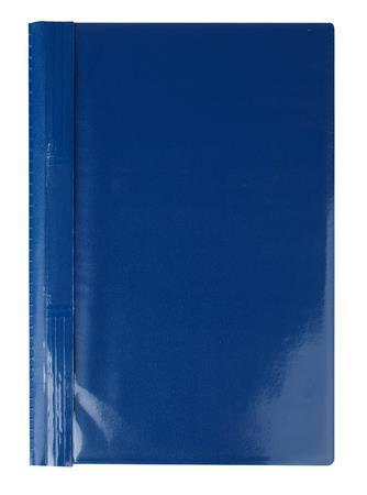 Gyorsfűző, kemény hátlappal, PVC, A4, VICTORIA, kék