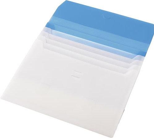 Irattartó tasak, A4, PP, 5 részes, kék