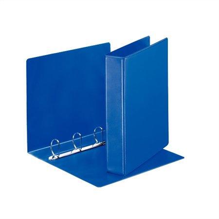 Gyűrűs könyv, panorámás, 4 gyűrű, D alakú, 65 mm, A4, PP, kék