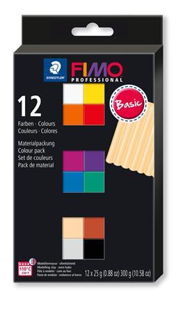 """Gyurma, készlet, égethető, 12x25 g, FIMO """"Professional Basic"""""""