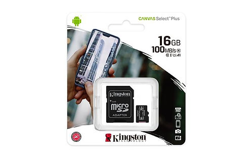 "Memóriakártya, microSDHC, 16 GB, CL10/U1/A1, ""Canvas Select Plus"""